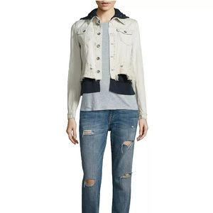 Free people layered jean jacket